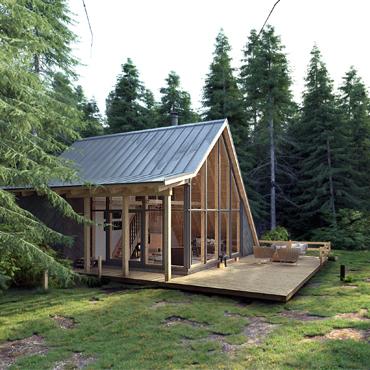 Waldhaus 3D Architektur