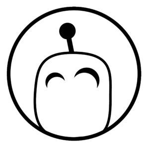 happy robot 3d logo